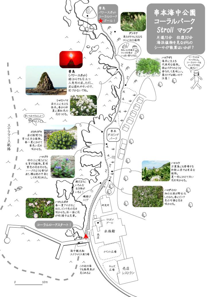 コーラルロード散策マップ
